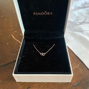 Pandora interlocked hearts necklace.